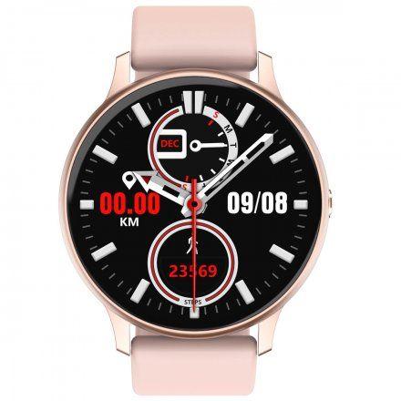 Smartwatch Pacific 09 Różowy + Biały Pasek
