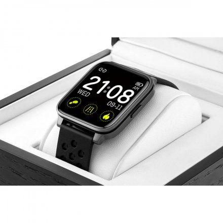 Czarny smartwatch męski damski Rubicon RNCE58BIBX03AX