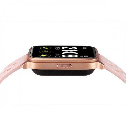 Różowy smartwatch męski damski Rubicon RNCE58RIBX03AX