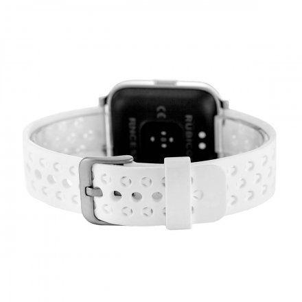 Biały smartwatch męski damski Rubicon RNCE58SIBX03AX