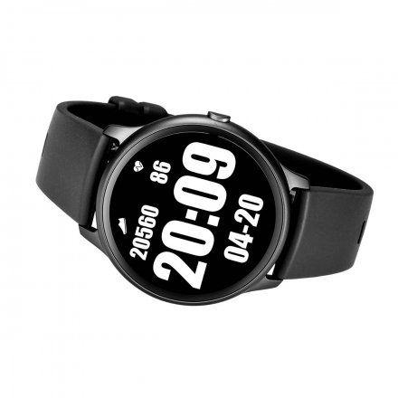 Czarny smartwatch męski damski Rubicon RNCE61BIBX05AX