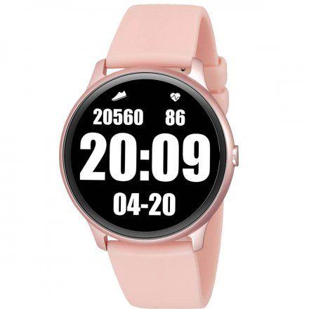 Różowy smartwatch męski damski Rubicon RNCE61RIBX05AX