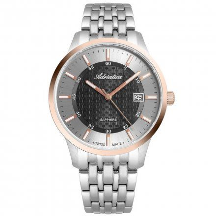 Zegarek Męski Adriatica na bransolecie A1256.R116Q - Zegarek Kwarcowy Swiss Made