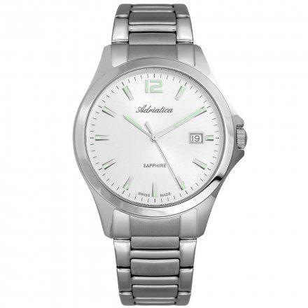 Zegarek Męski Adriatica na bransolecie A1264.5153Q - Zegarek Kwarcowy Swiss Made