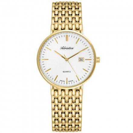 Zegarek Męski Adriatica na bransolecie A1270.1113Q - Zegarek Kwarcowy Swiss Made