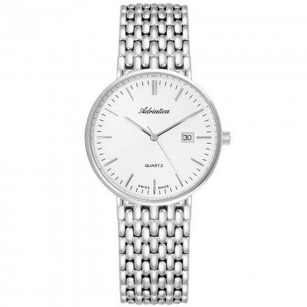 Zegarek Męski Adriatica na bransolecie A1270.5113Q - Zegarek Kwarcowy Swiss Made