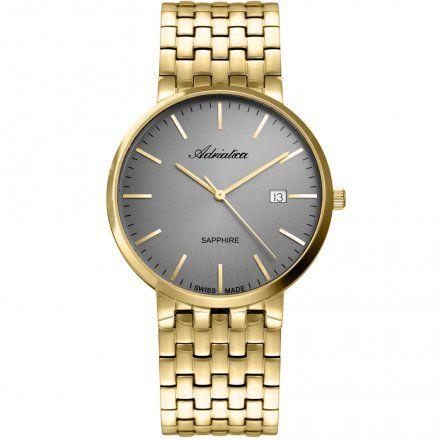Zegarek Męski Adriatica na bransolecie A1281.1117Q - Zegarek Kwarcowy Swiss Made