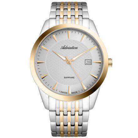 Zegarek Męski Adriatica na bransolecie A1288.2117Q  Zegarek Kwarcowy Swiss Made