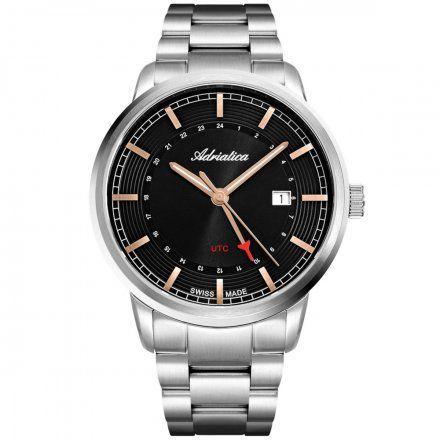 Zegarek Męski Adriatica na bransolecie A8307.51R6Q Swiss Made