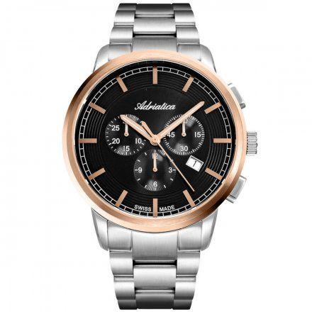 Zegarek Męski Adriatica na bransolecie A8307.R1R6CH Swiss Made
