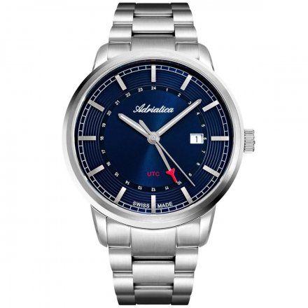Zegarek Męski Adriatica na bransolecie A8307.5115Q Swiss Made