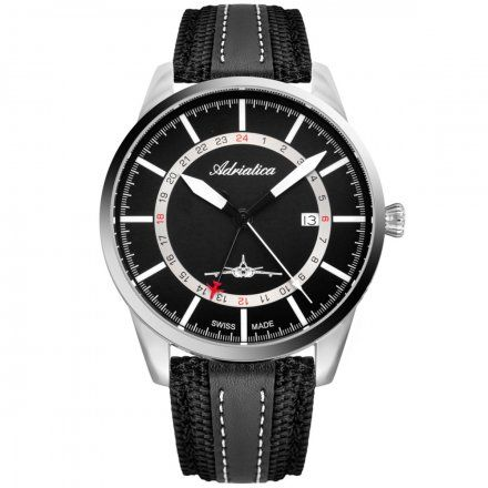 Zegarek Męski Adriatica na pasku A8186.5214Q Swiss Made