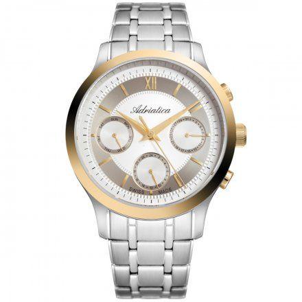 Zegarek Męski Adriatica na bransolecie A8276.2163QF Swiss Made