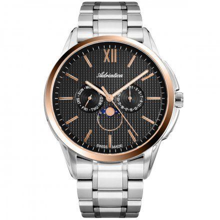 Zegarek Męski Adriatica na bransolecie A8283.R166QF Swiss Made