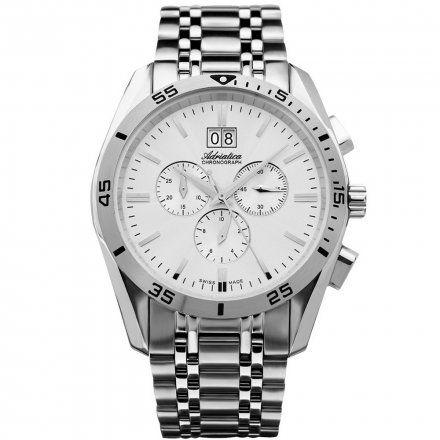 Zegarek Męski Adriatica na bransolecie A8202.5113CH- Chronograf Swiss Made