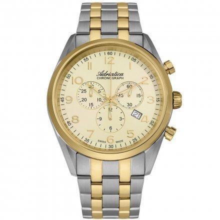 Zegarek Męski Adriatica na bransolecie A8204.2121CH - Chronograf Swiss Made