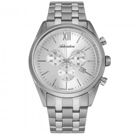 Zegarek Męski Adriatica na bransolecie A8204.5163CH - Chronograf Swiss Made