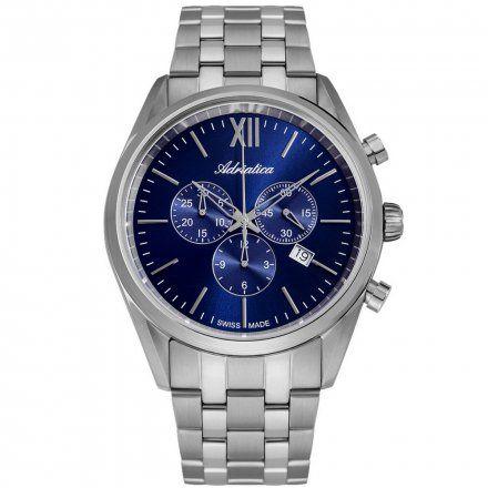 Zegarek Męski Adriatica na bransolecie A8204.5165CH - Chronograf Swiss Made