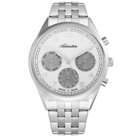 Zegarek Męski Adriatica na bransolecie A8259.5123QF - Multifunction Swiss Made