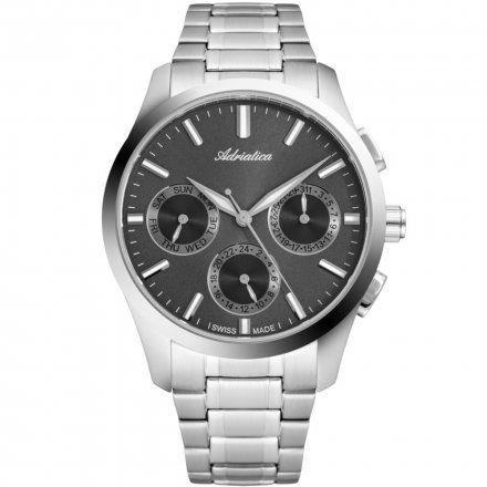 Zegarek Męski Adriatica na bransolecie A8277.5117QF - Multifunction Swiss Made