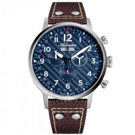 Zegarek Męski Adriatica na pasku A8308.5225CH - Chronograf Swiss Made