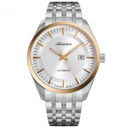 Zegarek Męski Adriatica na bransolecie A8309.2113A Swiss Made