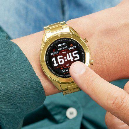 Złoty Smartwatch Marea B58004/3 z dodatkowym paskiem