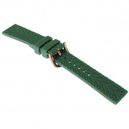Pasek do zegarka Vostok Europe Pasek Almaz - Silikonowy (O265) zielony różowa klamra