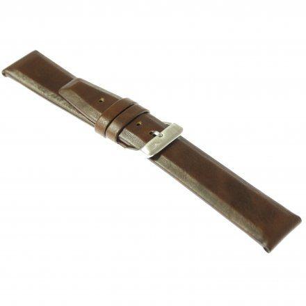 Pasek do zegarka Vostok Europe Pasek Gaz-14 - Skóra 560 (A605) brązowy gładki błyszcząca klamra