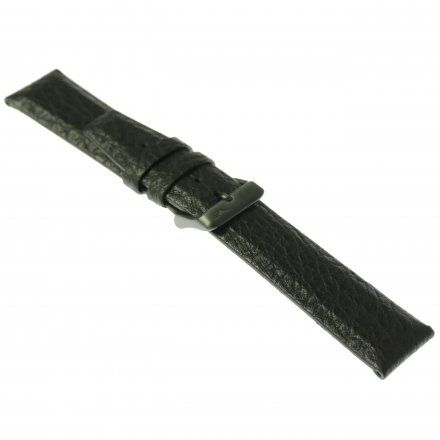 Pasek do zegarka Vostok Europe Pasek Gaz-14 - Skóra 560 (C601) czarny gnieciony czarna klamra