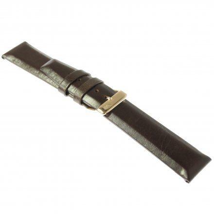 Pasek do zegarka Vostok Europe Pasek Gaz-14 - Skóra 560 (B602) brązowy gładki różowa klamra