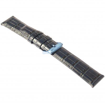 Pasek do zegarka Vostok Europe Pasek Gaz-14 - Skóra 560 (D603) niebieski croco niebieska klamra