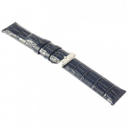 Pasek do zegarka Vostok Europe Pasek Gaz-14 - Skóra 560 (A604) niebieski croco błyszcząca klamra