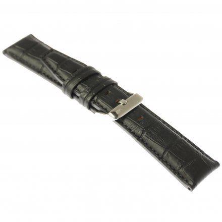 Pasek do zegarka Vostok Europe Pasek Gaz-14 - Skóra 565 (A595) czarny croco błyszcząca klamra