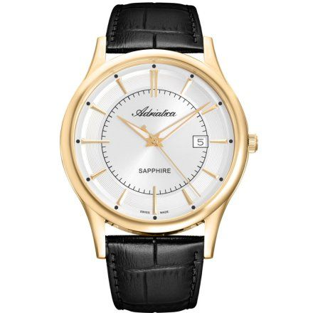 Zegarek Męski Adriatica na pasku A1296.1213Q Swiss Made