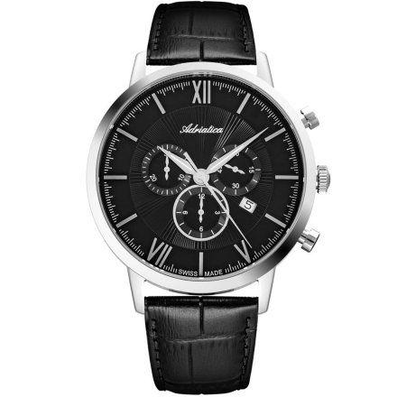 Zegarek Męski Adriatica na pasku A8298.5264CH - Chronograf Swiss Made