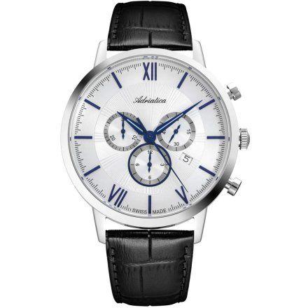 Zegarek Męski Adriatica na pasku A8298.52B3CH - Chronograf Swiss Made