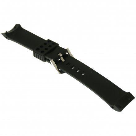 Pasek do zegarka Vostok Europe Pasek Anchar - Silikon (A587) czarny z błyszczącą klamrą