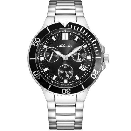 Zegarek Męski Adriatica na bransolecie A8317.5114QF - Multifunction Swiss Made