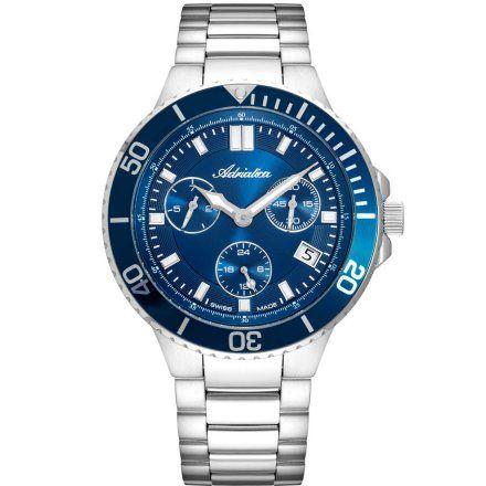 Zegarek Męski Adriatica na bransolecie A8317.5115QF - Multifunction Swiss Made