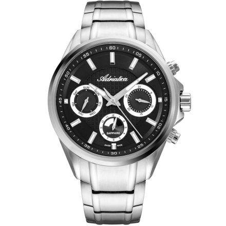 Zegarek Męski Adriatica na bransolecie A8321.5114QF - Multifunction Swiss Made
