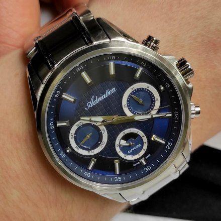 Zegarek Męski Adriatica na bransolecie A8321.5115QF - Multifunction Swiss Made