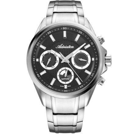 Zegarek Męski Adriatica na bransolecie A8321.5117QF - Multifunction Swiss Made