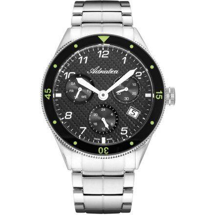 Zegarek Męski Adriatica na bransolecie A8322.5126QF - Multifunction Swiss Made