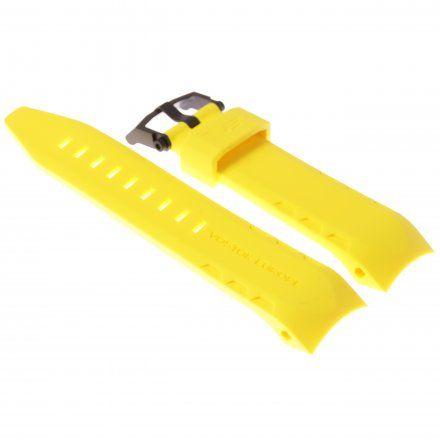 Pasek do zegarka Vostok Europe Pasek Lunokhod - Silikon (4205) żółty z czarną klamrą
