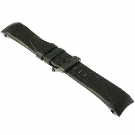 Pasek do zegarka Vostok Europe Pasek Lunokhod - Skóra (4212) czarny z czarnym przeszyciem czarna klamra