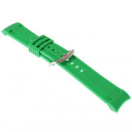 Pasek do zegarka Vostok Europe Pasek Anchar - Silikon (7172) zielony z matową klamrą