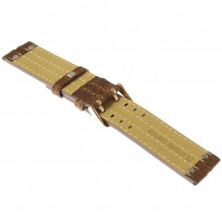 Pasek do zegarka Vostok Europe Pasek Expedition - Skóra (3230) brązowy różowa klamra