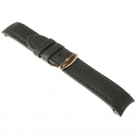 Pasek do zegarka Vostok Europe Pasek Anchar - Skóra (9248) czarny z czarnym przeszyciem różowa klamra
