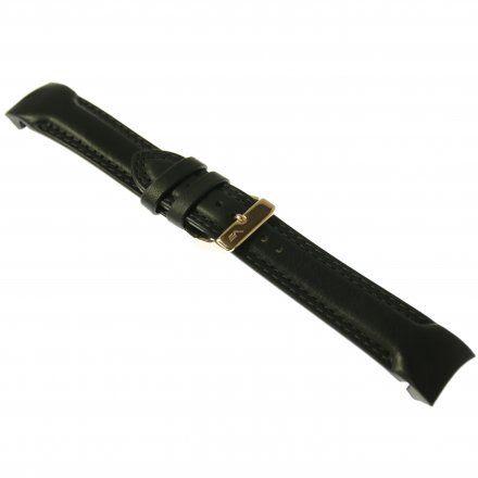 Pasek do zegarka Vostok Europe Pasek Rocket N1 - Skóra (3148) czarny z różową klamrą